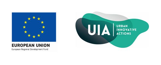 Logo du financement européen UIA pour la Ville de Seraing